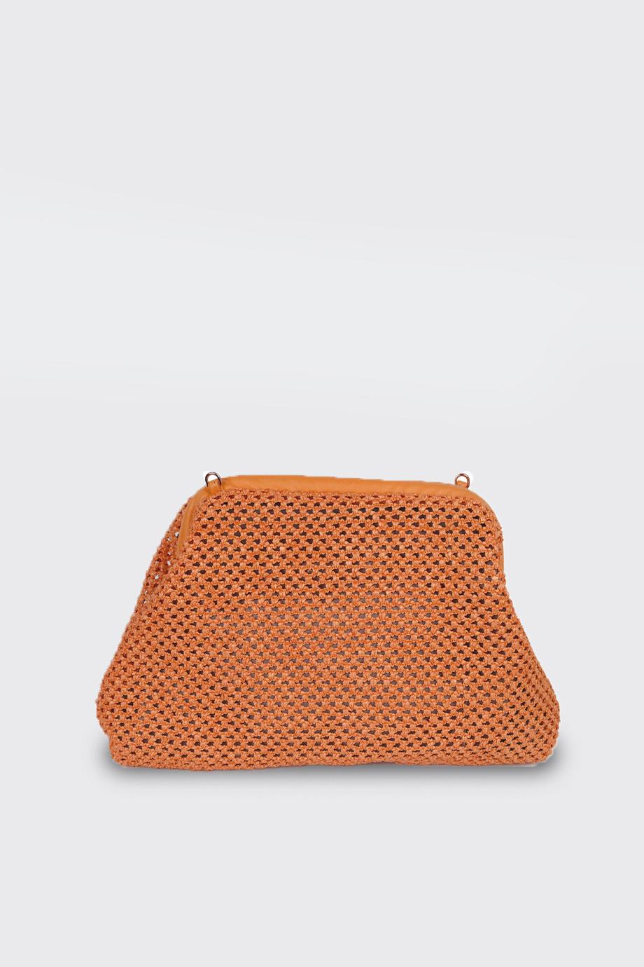 borsetta puffy crochet arancione avenue 67