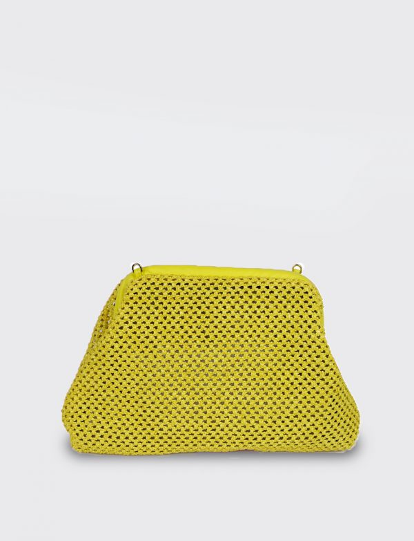 Borsetta PUFFY CROCHET giallo Avenue 67